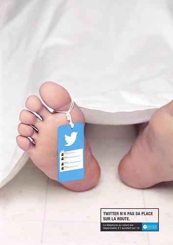 Twitter no tiene lugar en la carretera. El teléfono inteligente es responsable de 1 de cada 10 accidentes