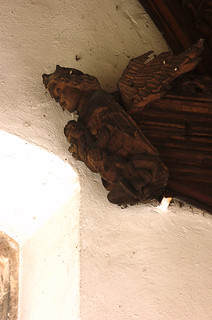 Outwell, Norfolk, St. Clement's church, Lynne chapel, carving