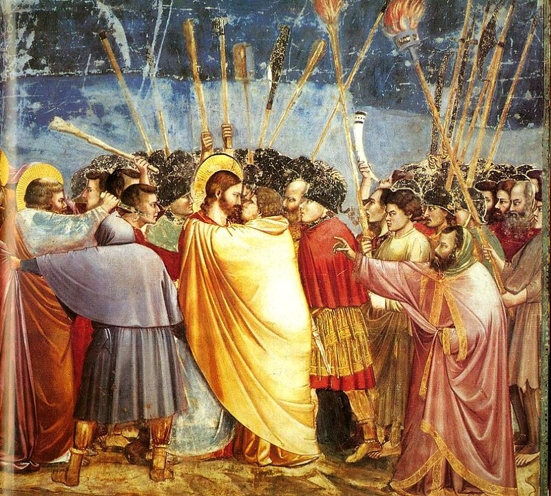 Kiss of Judas, fresco by Giotto, Scrovegni Chapel, Padua, Italy