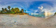 Abaiang atoll on the lagoon side in Kiribati - take a virtual reality tour of the island in the description