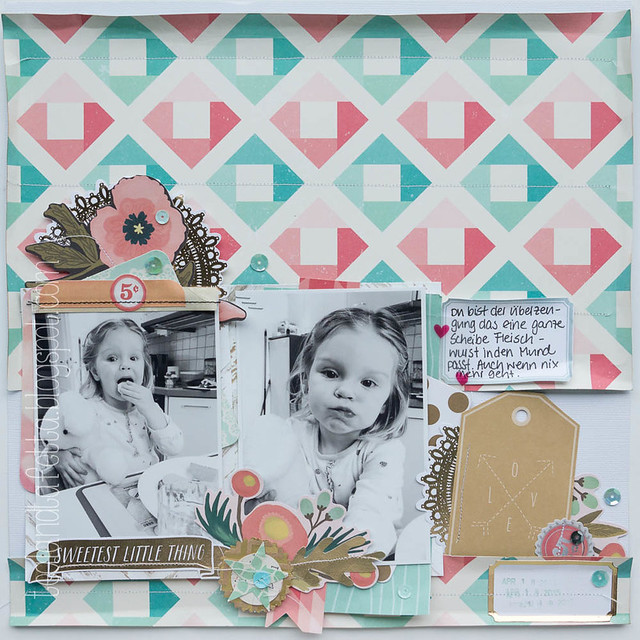 Scrapbook Layout - Sweetest Little Thing