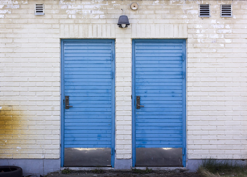 Two Blue Doors