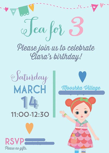 Mooshka birthday invitation