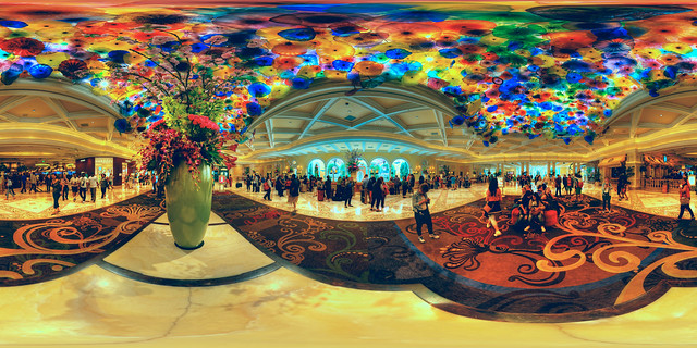 Bellagio Hotel Lobby with the Famous Chihuly Ceiling, Las Vegas