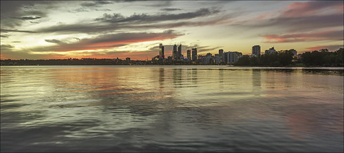 city sunset sky reflection water skyline clouds river twilight scenery cityscape dusk sony scenic australia wideangle alpha westernaustralia swanriver southperth carlzeiss a99 cityofperth sal1635z variosonnar163528za slta99 stevekphotography