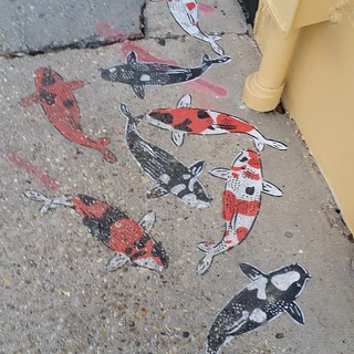 Koi on the side walk. #graffiti #nola