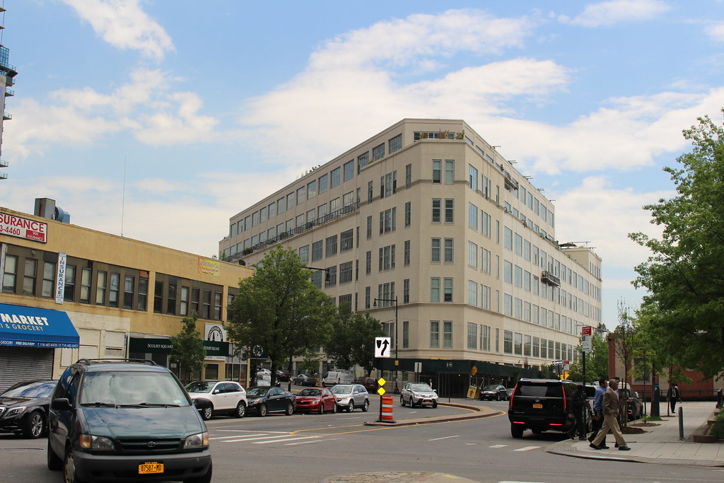 A 10 min walk from CUNY Law along Thomson Avenue (pictured) will take you to LaGuardia Community College, where you have access to affordable child care and a fitness center that includes a pool.