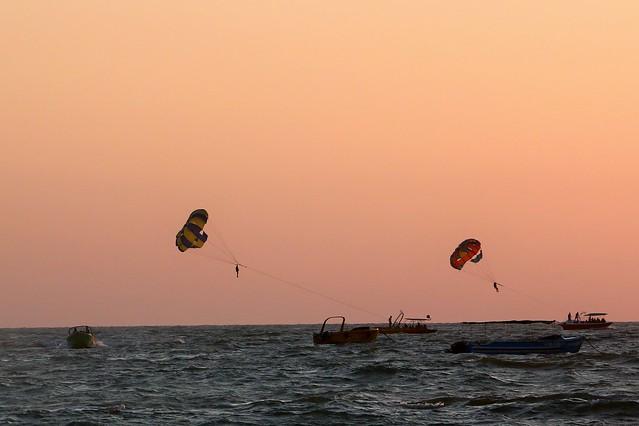Parasailing at Calangute Beach, Goa