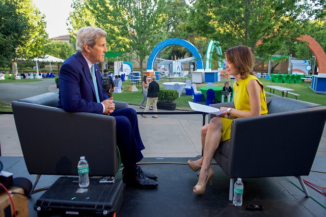 Emily Chang of Bloomberg West Interviews Secretary Kerry at the Beginning of the Global Entrepreneurship Summit in Palo Alto