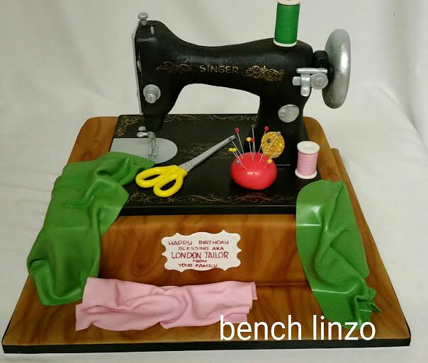 Ben Linzo's Sewing Machine Cake