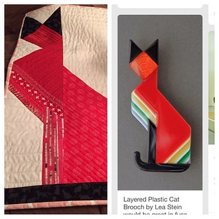 now that it has been received I can post #kittenmqs2015 and its inspiration #frankiesfabrics @jeepdog1 #picstitch