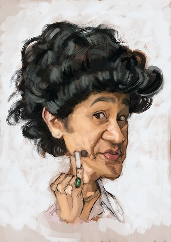 digital caricature of Phua Chu Kang (Gurmit Singh)
