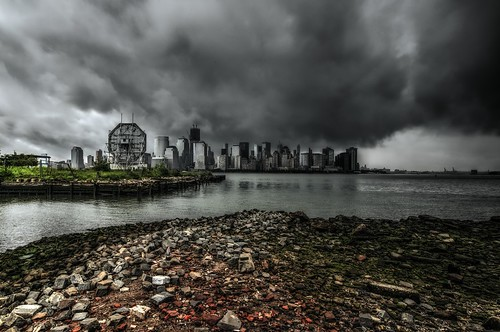 nyc newyorkcity storm clock weather skyline jerseycity cityscape hurricane license irene hdr cloudscape gettyimages colgateclock stormscape mudpig stevekelley stevenkelley licensenow