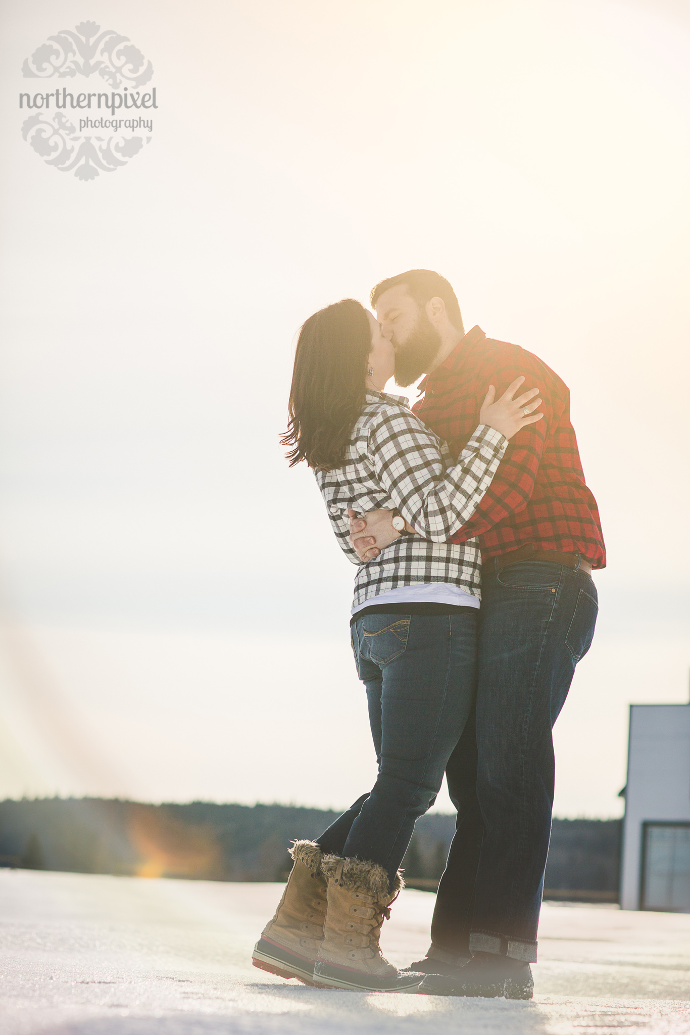 Huble Homestead Engagement Sunflare