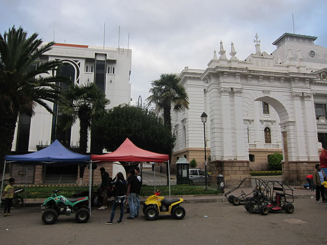 Rent a Go-Cart Outside of the Supreme Court in Sucre