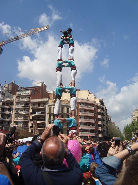 Castellers Esplugues a la FM Sagrada Família