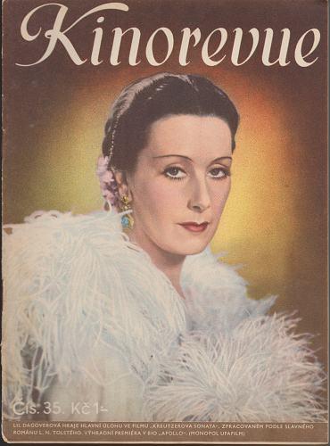 Časopis Kinorevue 1936-37 č. 35, Lil Dagoverová