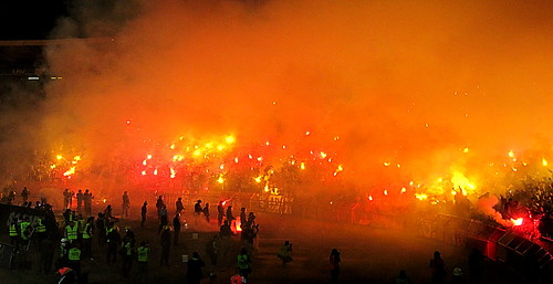 riot fans pyro derby fk hooligans ultras zvezda crvena beograde partizanbelgrade