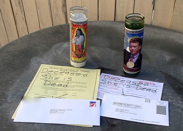 2 prepaid envelopes ready to go