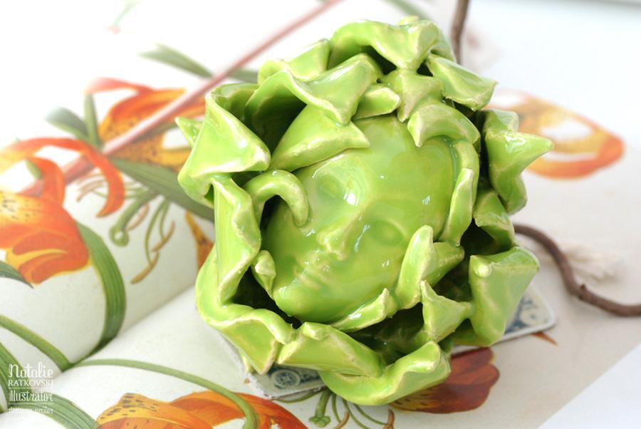 My ceramic artichoke