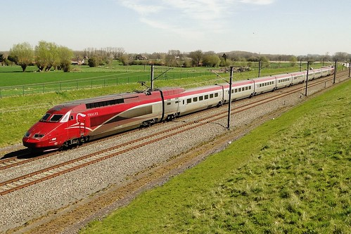 Belgian High Speed - Thalys PBA in the direction of Brussels.