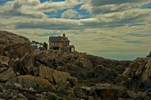 clouds coast maine newengland rocky atlantic coastal seashore kennebunk vacationland