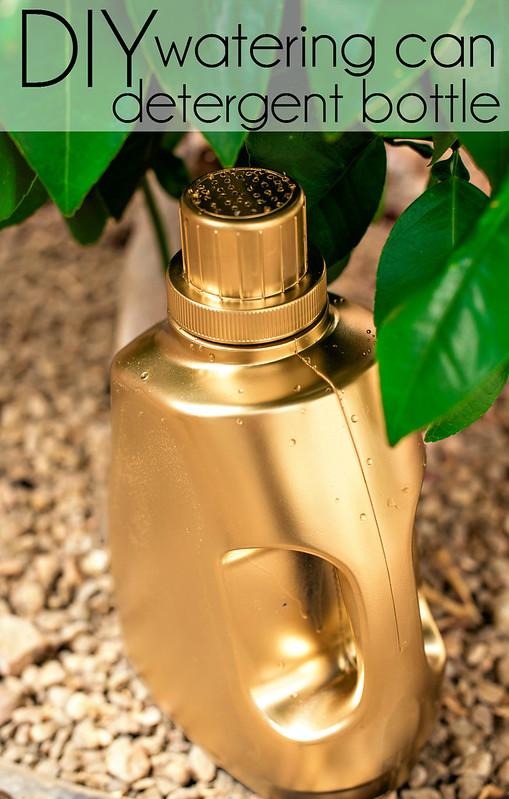 DIY watering can detergent bottle #RadiantLaundry #CollectiveBias