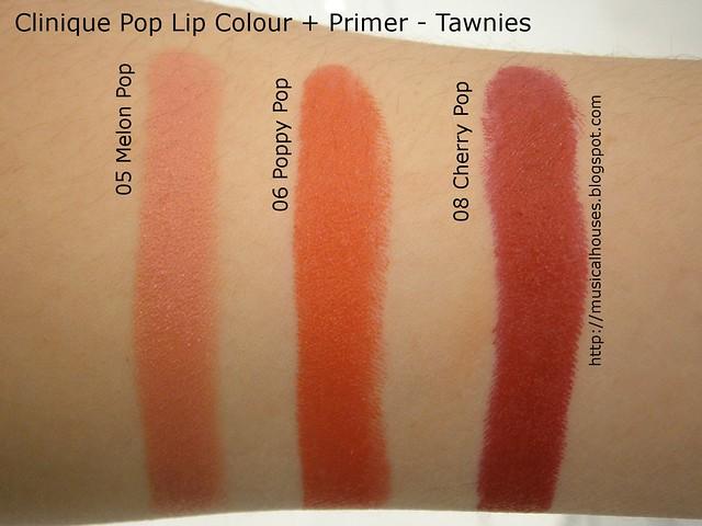 Clinique Pop Lip Colour Primer Swatches Tawnies