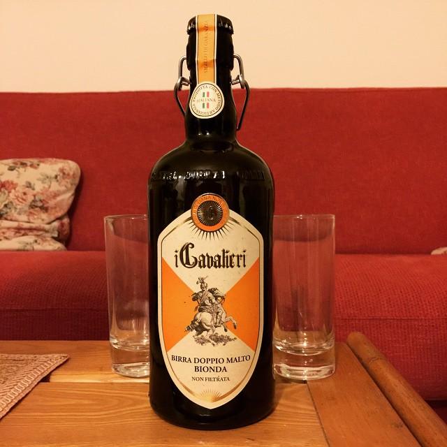 #beeroftheday: #icavalieri #birra #doppiomalto #bionda