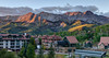 Golden Hour Over Mountain Village by Ron Drew