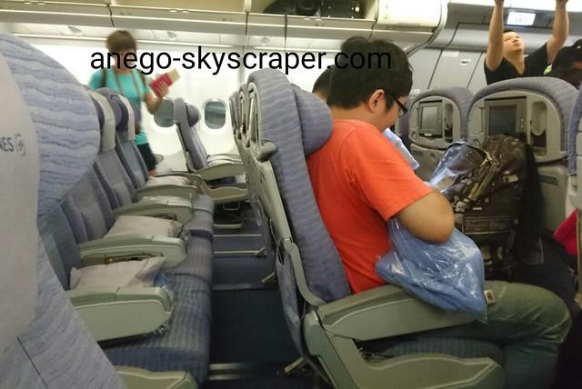 きつい機内