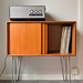 G Plan record cabinet on steel hairpin legs by mike hodson