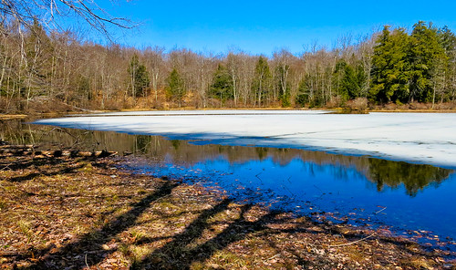lake ice water reflections landscape spring shadows thaw canong15