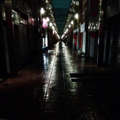 雨の日ってさ、景色がなんかこう、ギラギラドラマチックになるよね。