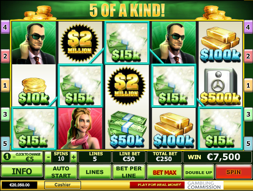 free Spin 2 Million Dollars slot 5 of a kind