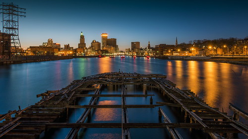 """Providence Skyline from Point Street Bridge"" by Frank Grace, via I {heart} Rhody"