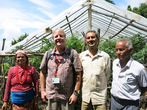 Kirk Astroth, second from left, in Nepal
