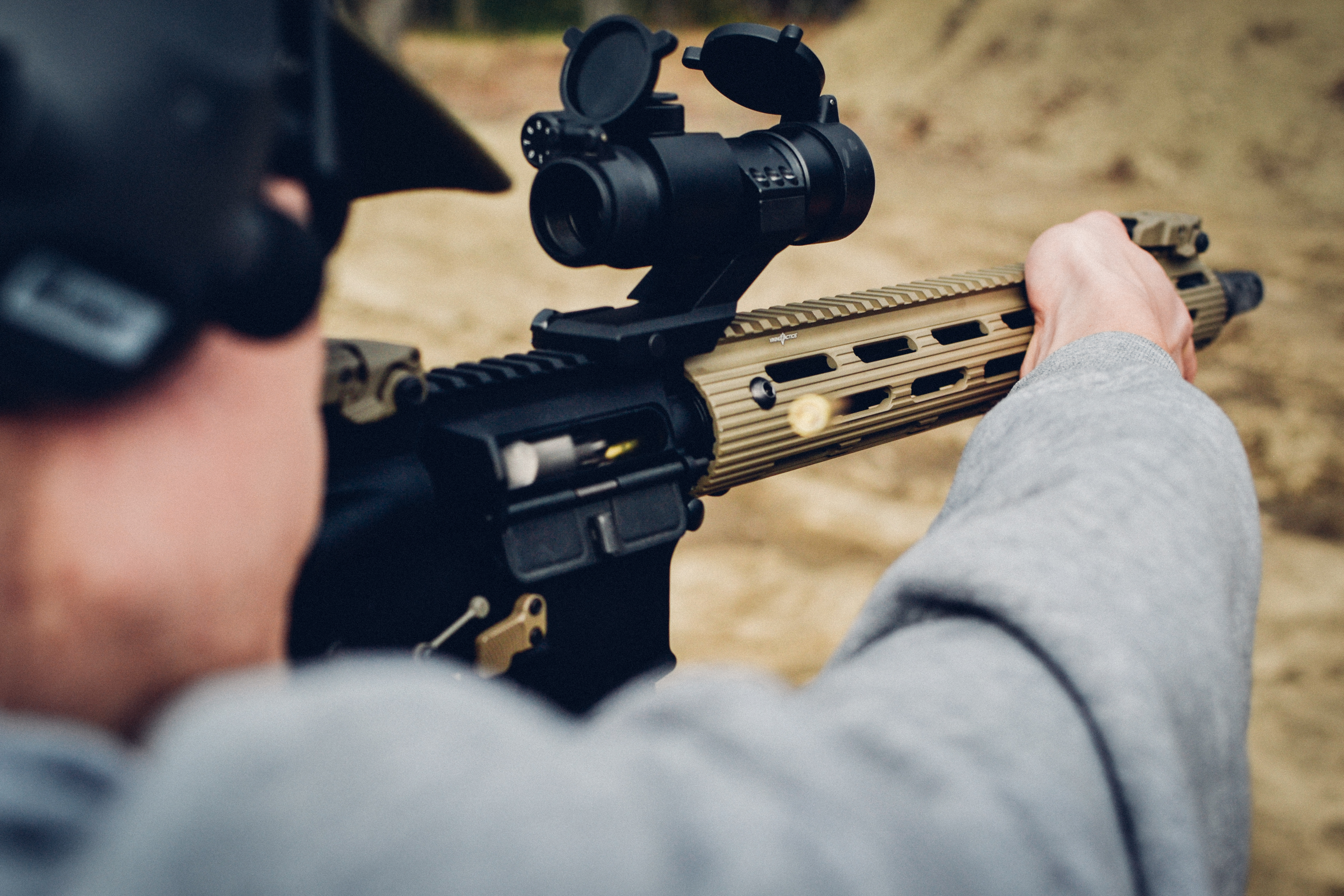 Spike's Tactical AR Build with Primary Arms 30mm Red Dot, Viking Tactics Alpha Rail 15″, SilencerCo Specwar Brake, Magpul MBUS Gen 2, FailZero Bolt Carrier Group, Odin Works XMR.