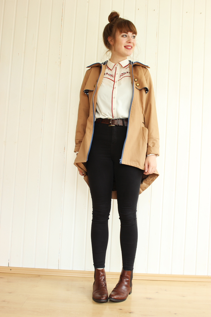 trenchcoat outfit blogger - trenchcoat zara H&M trend asos mango topshop