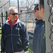 Rep. Richard A. Smith meets with New Fairfield Little League organizers on April 25 during the Opening Day ceremonies.