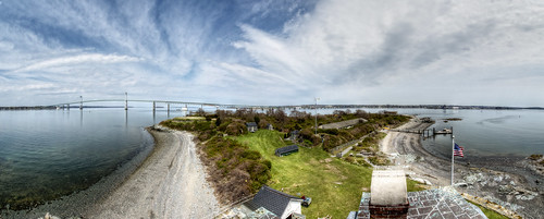 From the Top of Rose Island Lighthouse by Frank Grace via I {heart} Rhody