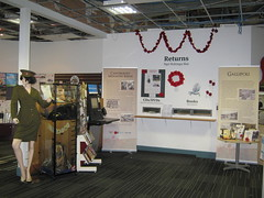 First World War display at Papanui Library