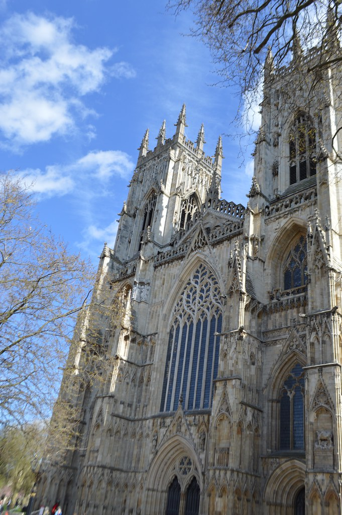 This is a photo of the entrance to York Minster