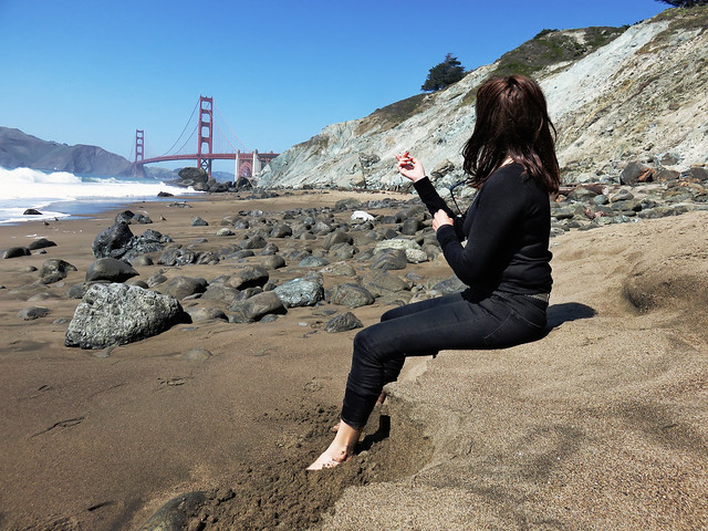 Maite at Marshall Beach, San Francisco.  April 29, 2015