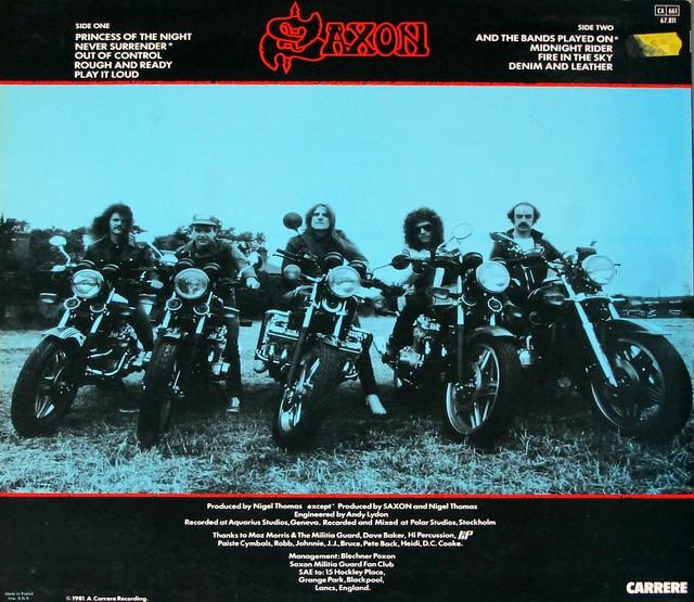 "Saxon Denim and Leather NWOBHM 12"" VINYL LP"