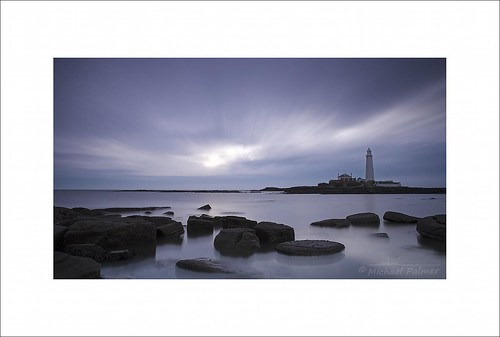 sea england cloud lighthouse seascape st rock sunrise canon landscape eos dawn michael big long exposure tide north palmer tyne wear east national le lee 7d nd trust usm filters grad graduated stopper mary's f28l ef1735mm