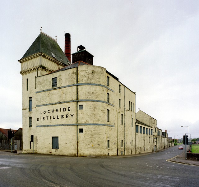 Lochside Distillery in Montrose, Angus, Scotland in 1993. Closed in 1992 and later demolished.