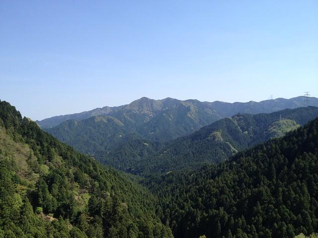錫杖ヶ岳 加太コース 痩せ尾根からの展望 経ヶ峰