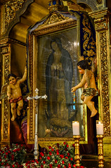 A replica of the Tilma at The Chapel of the Tilma inside Our Lady of Guadalupe Parish Church in Pagsanjan, Laguna