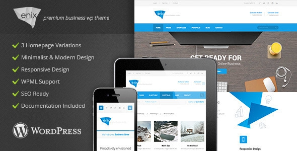 Enix v1.3 - Modern Corporate Wordpress Theme